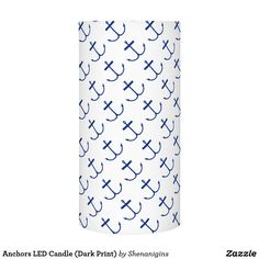 Anchors LED Candle (Dark Print)