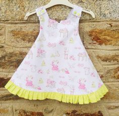 A personal favorite from my Etsy shop https://www.etsy.com/uk/listing/261000052/girls-reversible-dress-age-2-party-dress