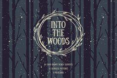 Into The Woods Set by hellokisdottir on @creativemarket