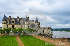 Park view on Amboise castle. Loire valley, France