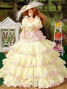 home crochet doll patterns curlicue dress technique crochet crochet ...