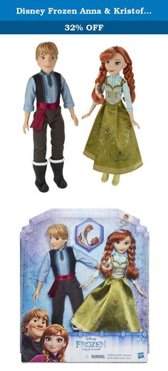 Disney Frozen Anna & Kristoff 2-Pack. Independent and hard-working, Anna and Kristoff team up to find Elsa and save Arendelle. This 2-pack includes Anna and Kristoff wearing outfits inspired by the ice-skating finale in Disney's Frozen. Imagine magical moments from the movie or setting off on an icy-cool adventure with this beloved pair. Copyright Disney Hasbro and all related terms are trademarks of Hasbro.