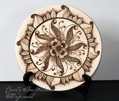 Unique and original woodburned design Abundance by AnniesArtBook, $175.00