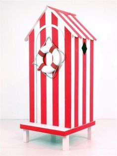 Event Prop Hire: Traditional Beach Hut (Red & White)