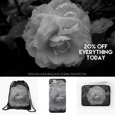 """Get these """"Camellia in Black & White"""" iPhone cases laptop sleeves bags and much more!  Celebrate International Womens Day - 20% Off Everything Today  Available only from http://ift.tt/2i1uX76 http://ift.tt/2m3bAu2 (Direct Link)  #camellia #flowers #garden #nature #blackandwhite #blackandwhitephotography  #products #cards #clothing #arts #crafts #technology #iphone #samsung #cases #bags #totes #photography #prints #home #housewares #clocks #journals #pillows #clocks #mugs #shop #shopping…"""
