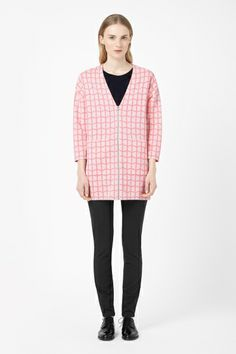 Zip-up jacquard cardigan COS