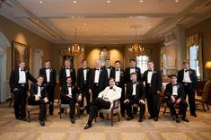 true southern wedding attire, groom in a white dinner jacket with his men ... so elegant!