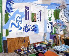 Matise's Studio in Nice damian elwes 50x60 in