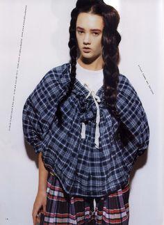 Tricot Comme des Garcons SS 2011, SO-EN February 2011 photograph: Osamu Yokonami, hair and makeup: Hiroko Ishikawa, styling: Yoko Omori #commedesgarcons