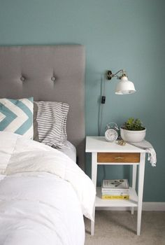 Before & After: IKEA Hemnes Nightstand Gets an Inventive Upgrade-After painted and Anthropologie pulls
