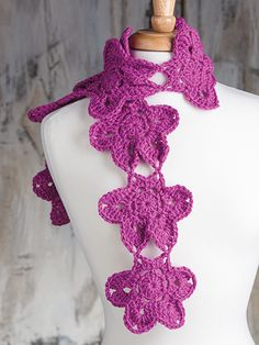 Free Crochet Pattern Download -- This Falling Star Scarf, designed by Ellen Gormley, is featured in episode 5, season 5 of Knit and Crochet Now! TV. Learn more here: https://www.anniescatalog.com/knitandcrochetnow/patterns/detail.html?pattern_id=22&series=2