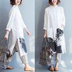 Women cotton linen shirt dress https://womenslittletips.blogspot.com http://amzn.to/2kZuft9 - shirts, outfits, checkered, style, sleeve, outfits shirt *ad