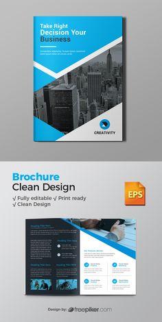 Corporate Bi-Fold Brochure Brochure Format, Bi Fold Brochure, Brochure Layout, Business Brochure, Graphic Design Brochure, Brochure Design Inspiration, Graphic Design Projects, Book Cover Page Design, Book Design Layout