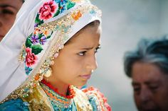 Greek Girl In Traditional Costume In Karpathos