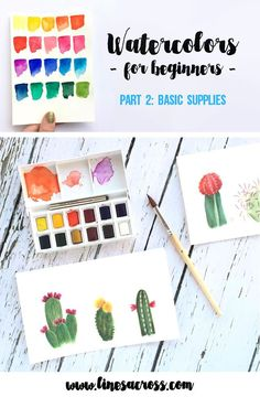 Learn the basic supplies you will need to learn watercolors, and some tips and inspiration for getting started.