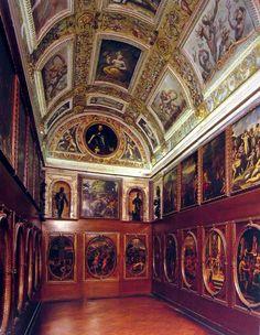 Studiolo of the great Italian Renaissance  arts patron & collector Francesco di Medici, 1569-1574, Palazzo Vecchio, Florence