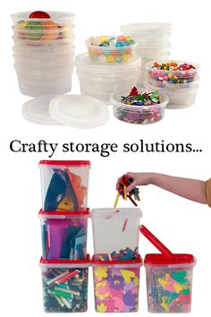 Take a look at our storage containers, a great way to keep your crafting supplies organised. We have small tubs perfect for beads & small craft supplies, to larger stackable storage boxes great for kids crafts. Adult Crafts, Crafts For Kids, Craft Box, Craft Ideas, Stackable Storage Boxes, Small Tub, Craft Storage, Storage Containers, Tubs