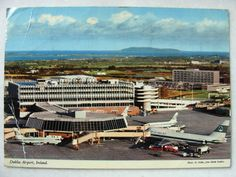 Dublin Airport, airside view of Terminal 1 from 1975 Dublin Airport, Ireland Homes, Girls Be Like, Old Photos, Irish, Dolores Park, Vacation, History, Places