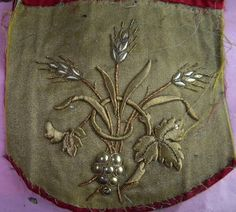 Fabulous Antique French Gold Metallic Vestment Applique Fragment by RuinsCa on Etsy https://www.etsy.com/listing/161214713/fabulous-antique-french-gold-metallic