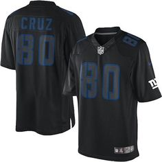 Nike Elite Men's New York Giants #80 Victor Cruz Impact Black NFL Jersey