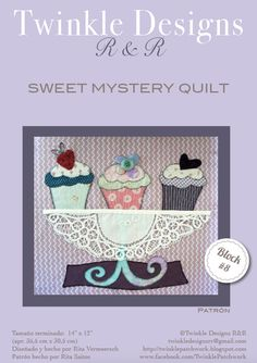 Sweet Mystery Quilt - Block # 8 - pattern
