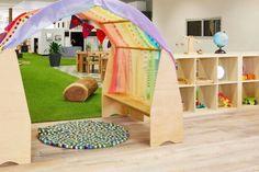 Rainbow cubby house