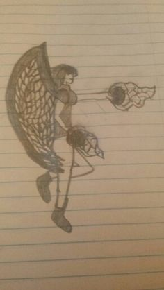 My drawing an angel by Krista Love.