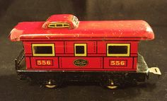 Marx Tin Toy Train Caboose  New York Central Line by HathawayCandC