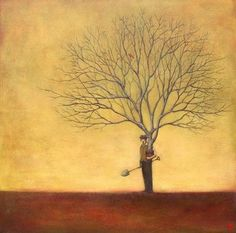 Visual representation of what genealogy is all about.  Will have this painting in my house some day.  (The Optimistic Gardener by Duy Huynh)