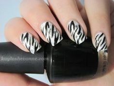 Nails by Kayla Shevonne: Nails of the Day - White Tiger Stripes