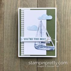 July Paper Pumpkin Alternate Ideas & August Add-On Bonus! (Mary Fish, Stampin' Pretty The Art of Simple & Pretty Cards) Pumpkin Cards, Paper Pumpkin, Masculine Birthday Cards, Masculine Cards, Stampin Pretty, Nautical Cards, Embossed Cards, Beautiful Handmade Cards, Pretty Cards