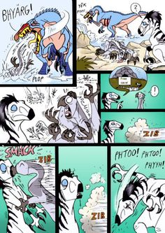 Fast-made-comic. Starring my RPG-character, Nervy (Säikky in Finnish) ingenia. He is one nervous and unlucky little dinosaur, who's home have been destr. Disney Dinosaur, Dinosaur Funny, Dinosaur Art, Jurassic World, Jurassic Park Funny, Cool Art Drawings, Animal Drawings, Character Creator, Furry Comic
