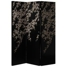 Oriental hand carved decorative screen - gorgeous!