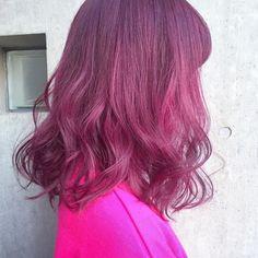ピンク系のヘアカラー大好き