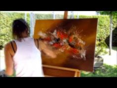 Abstract acrylic painting - Démonstration peinture abstraite (3) par Althea - YouTube