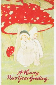 Vintage New Year's card