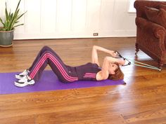 Today's Exercise: Low Mount Crunches with Band