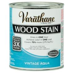 Varathane 1-qt. 3X Vintage Aqua Premium Wood Stain (2-Pack)-287754 - The Home Depot