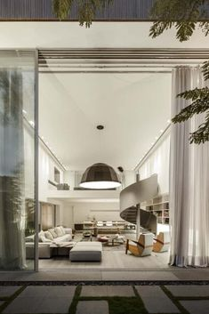 Gama Issa by studio Minimalist Interior, Modern Interior Design, Interior Design Inspiration, Interior Architecture, Interior And Exterior, Modern Mansion, Built In Bookcase, Spacious Living Room, Contemporary Home Decor