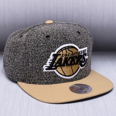 new style f3112 3f3d3 Mitchell   Ness NBA Los Angeles Lakers Static 2 Tone Snapback Cap