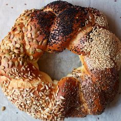 This festive, seeded challah recipe from Uri Scheft's Breaking Breads: A New World of Israeli Baking makes a gorgeous and delicious centerpiece for your Rosh Hashanah table. Freeze, Rosh Hashanah, Stand Mixer, Dry Yeast, Brisket, Holiday Recipes, Holiday Meals, Fall Recipes, Dinner Recipes