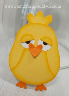 Owl Punch Art Baby Chick - so cute!