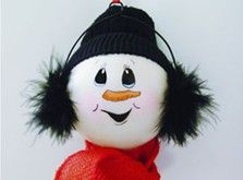 Craft Ideas : Projects : Details : earmuffed-snowman-ornament