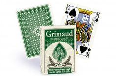 Cartes de poker Grimaud Éco (vert) - Pokeo.fr - Jeu de 54 cartes Grimaud Éco en carton plastifié, au format poker double index, dos vert.