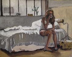 By Georgia Lobo - Manhã cinza - 1,00 X 0,80 - óleo sobre tela