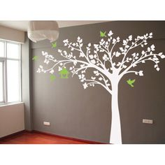Found it at Wayfair - Big Tree with Love Birds Wall Decal