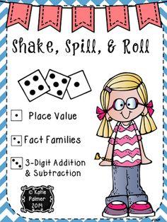Shake, Spill, Roll, ENGAGING Math!!
