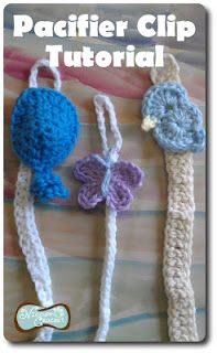 Free Patterns - 20+ Baby Pacifier Clips & Holders to Knit, Crochet & Sew