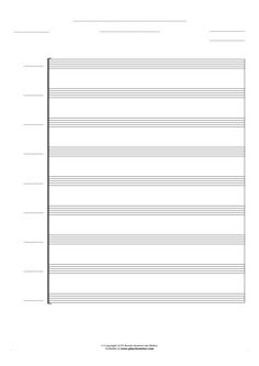Free Blank Sheet Music sheet music by Jan Walter. Part: Score for 9 voices.