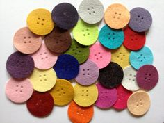 Wool Felt Button Die Cuts 30 - 1 1/2 inch, $5.40